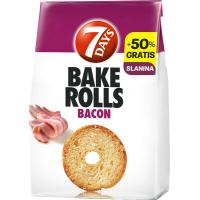 7 DAYS Bake rolls Bacon 160g