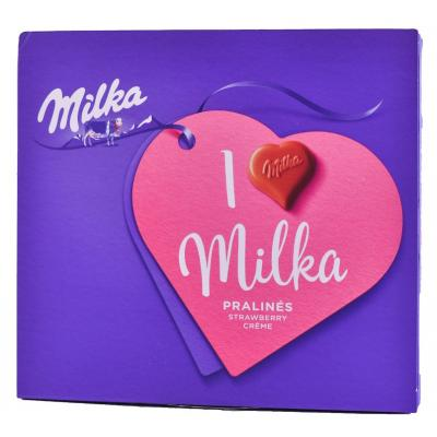 Bombonjere MILKA I Love Milka Strawberry 120g