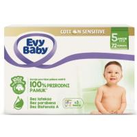 EVY BABY Cotton sensitive 5 72kom
