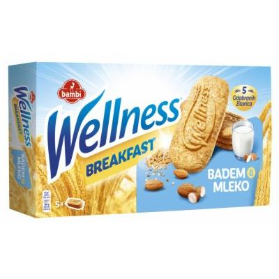 Keks WELLNESS breakfast mleko badem 210g