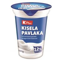 Kisela pavlaka K Plus 12%mm 180g