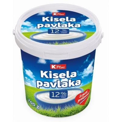 Kisela pavlaka K Plus 12%mm 700g