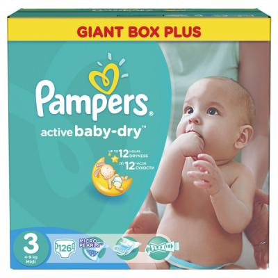 PAMPERS pelene Giant box 3 126kom