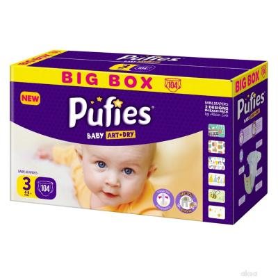 PUFIES pelene Baby art BOX 3 104kom