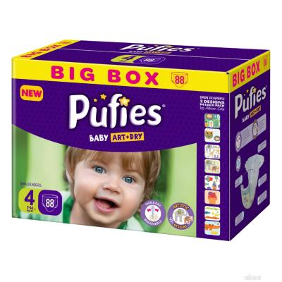 PUFIES pelene Baby art BOX 4 88kom