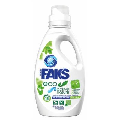 Tečni deterdžnet FAKS Eco Active nature 18 pranja 900ml