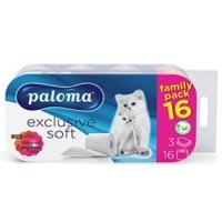 Toalet papir PALOMA Exclusive family pack 3sloja 16kom