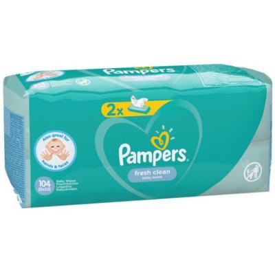 Vlažne maramice PAMPERS fresh clean 2x52kom