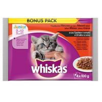 WHISKAS junior živina 4x100g